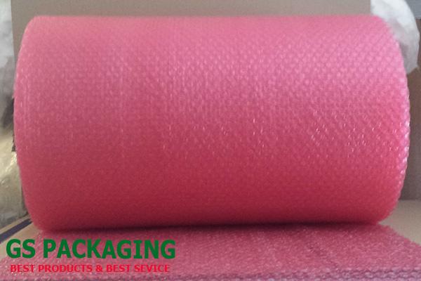 Cuộn xốp hơi chống tĩnh điện màu hồng