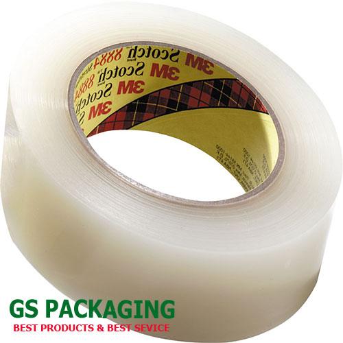Cuộn băng dính 0.5kg màu trắng trong
