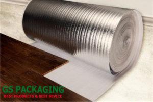 cuộn mút xốp 2mm tráng bạc lót sàn gỗ